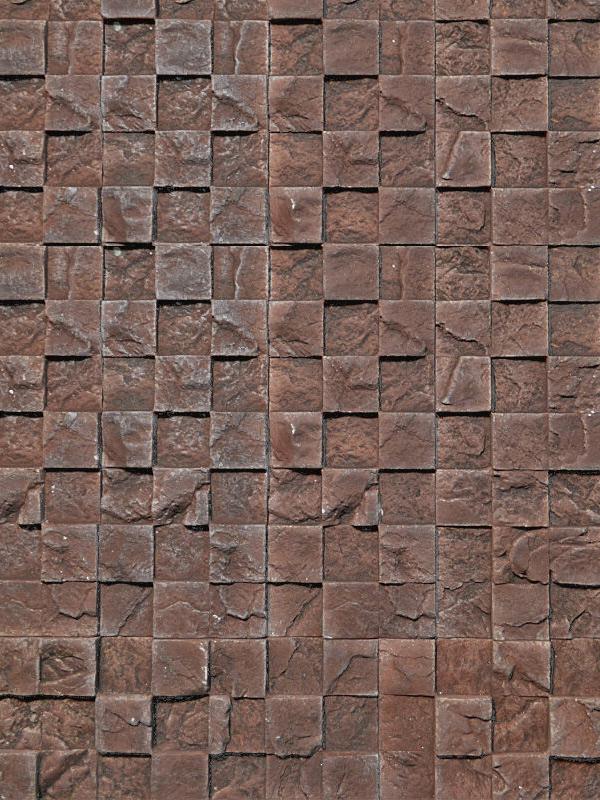 Гипсовая плитка 3D мозаика Коричневый