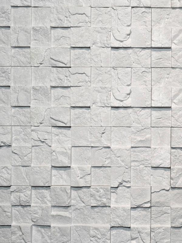 Гипсовая плитка 3D мозаика Светло-серый