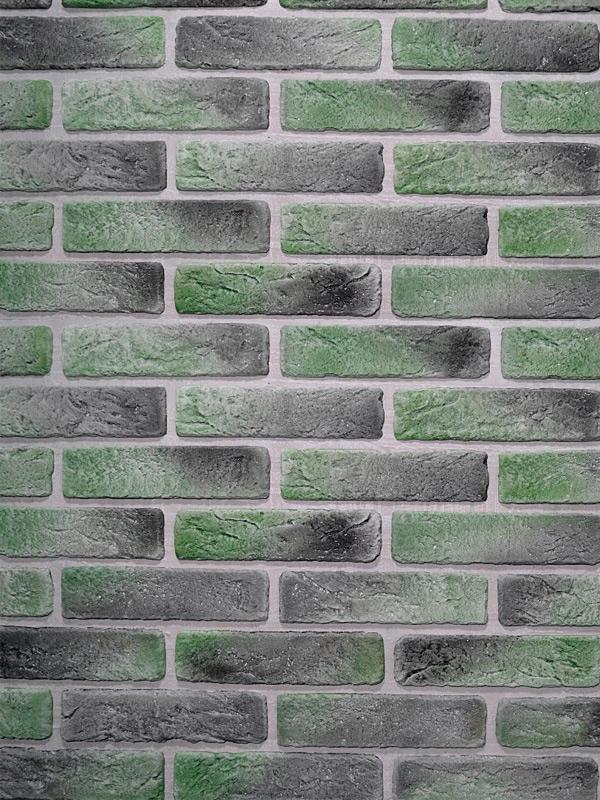 Гипсовый кирпич Антик Зелёный лофт