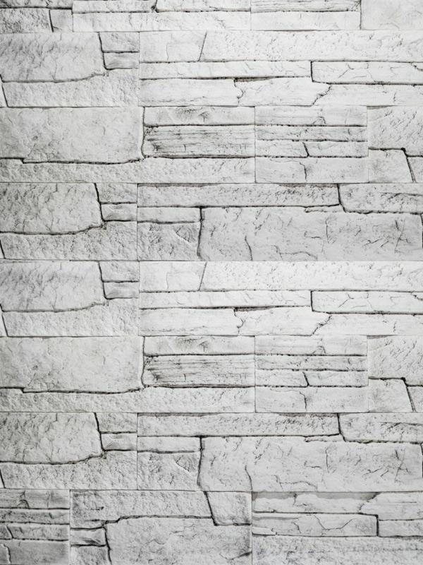 Гипсовая плитка Сланец классический Белая скала