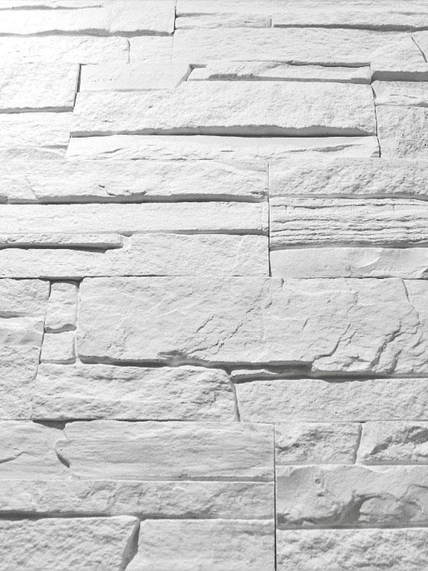 Гипсовая плитка Сланец классический Белый