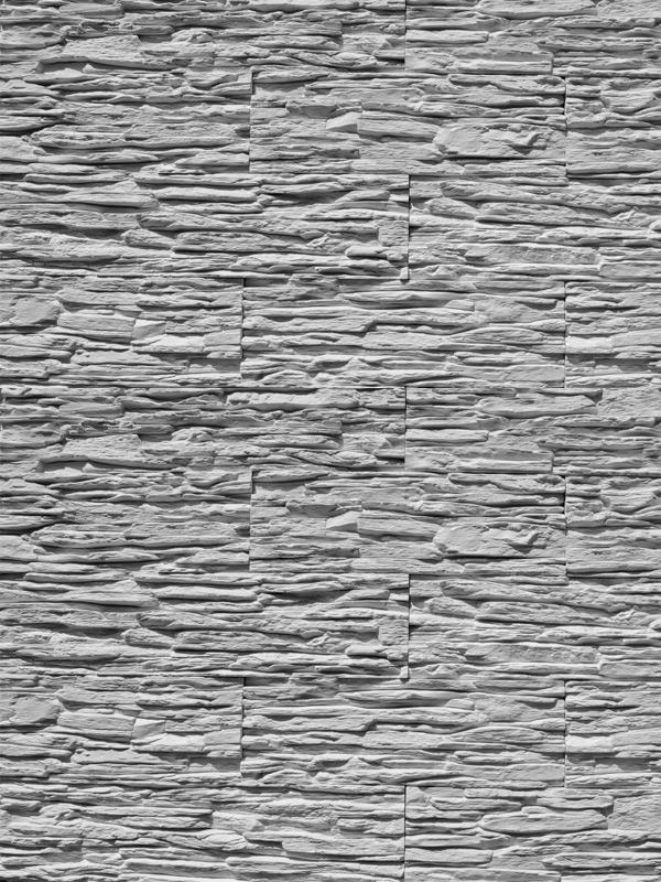Гипсовая плитка Сланец тонкослойный Белый