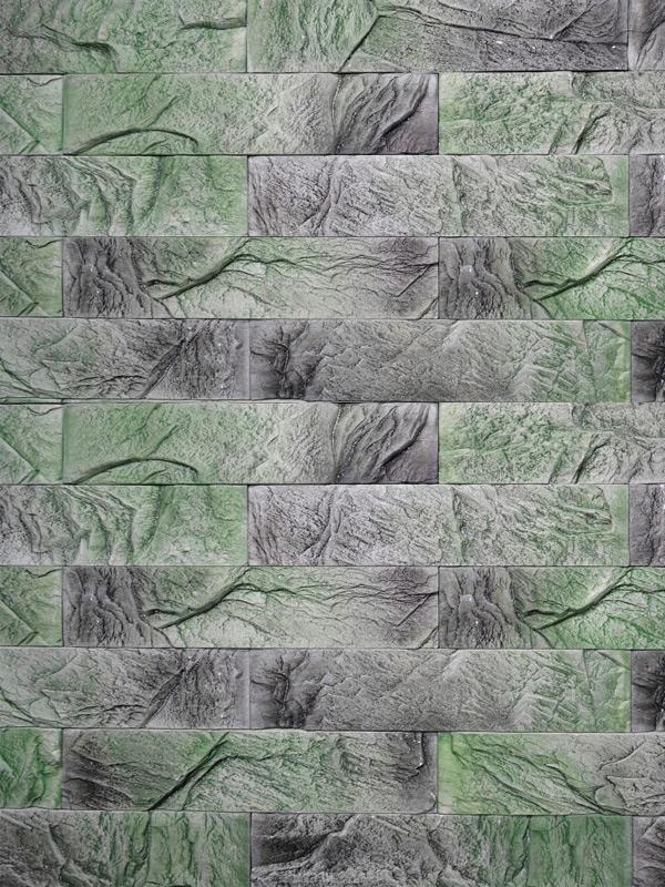 Гипсовый камень Уральский скол Зелёный лофт