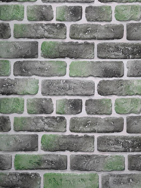 Гипсовый кирпич Выветренный Зелёный лофт